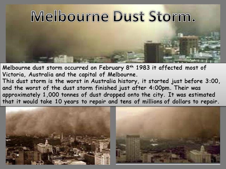 Melbourne Dust Storm. Dust storm