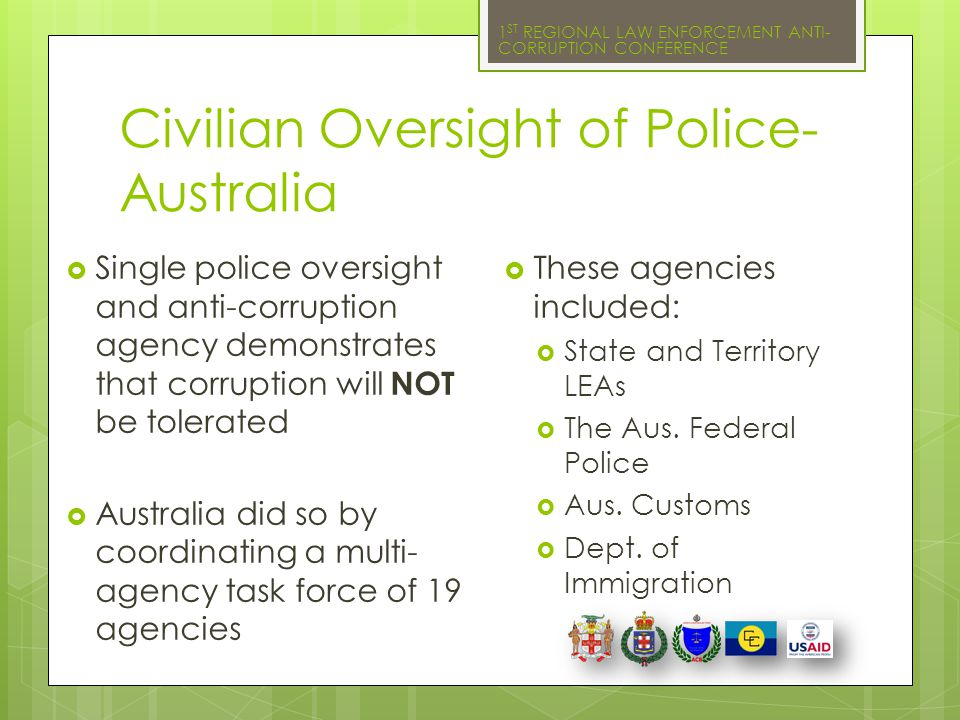 Civilian Oversight of Police- Australia