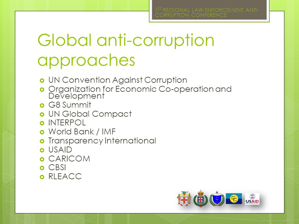 Global anti-corruption approaches