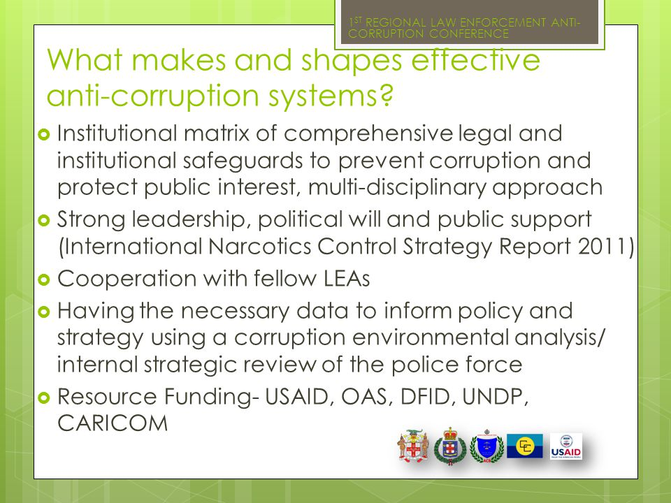 What makes and shapes effective anti-corruption systems