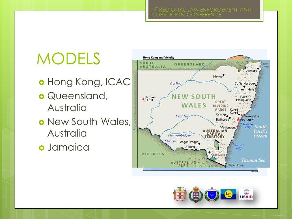 MODELS Hong Kong, ICAC Queensland, Australia