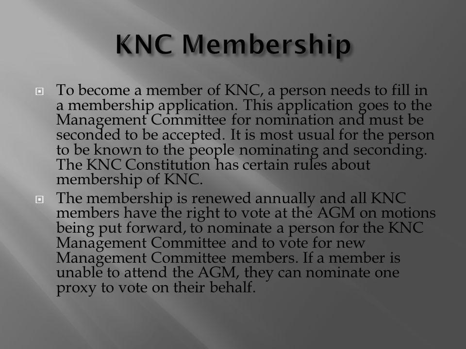 KNC Membership