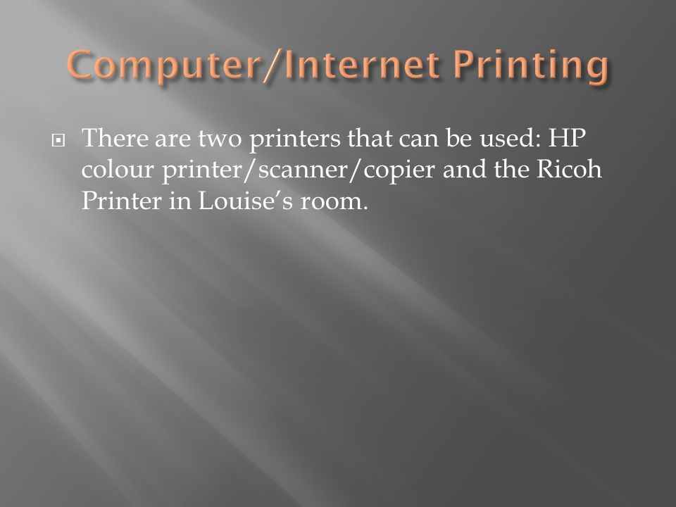 Computer/Internet Printing