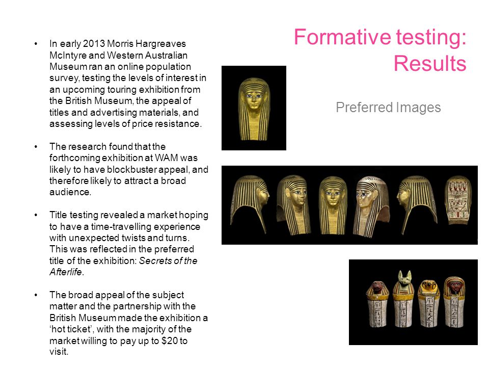Formative testing: Results Preferred Images