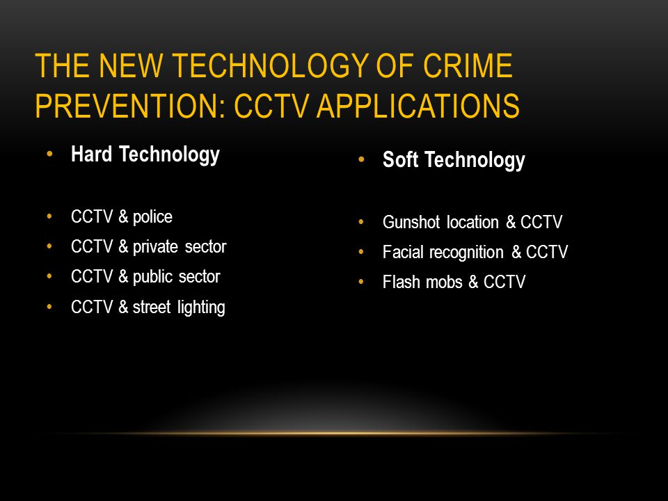 The New Technology of Crime Prevention: CCTV Applications