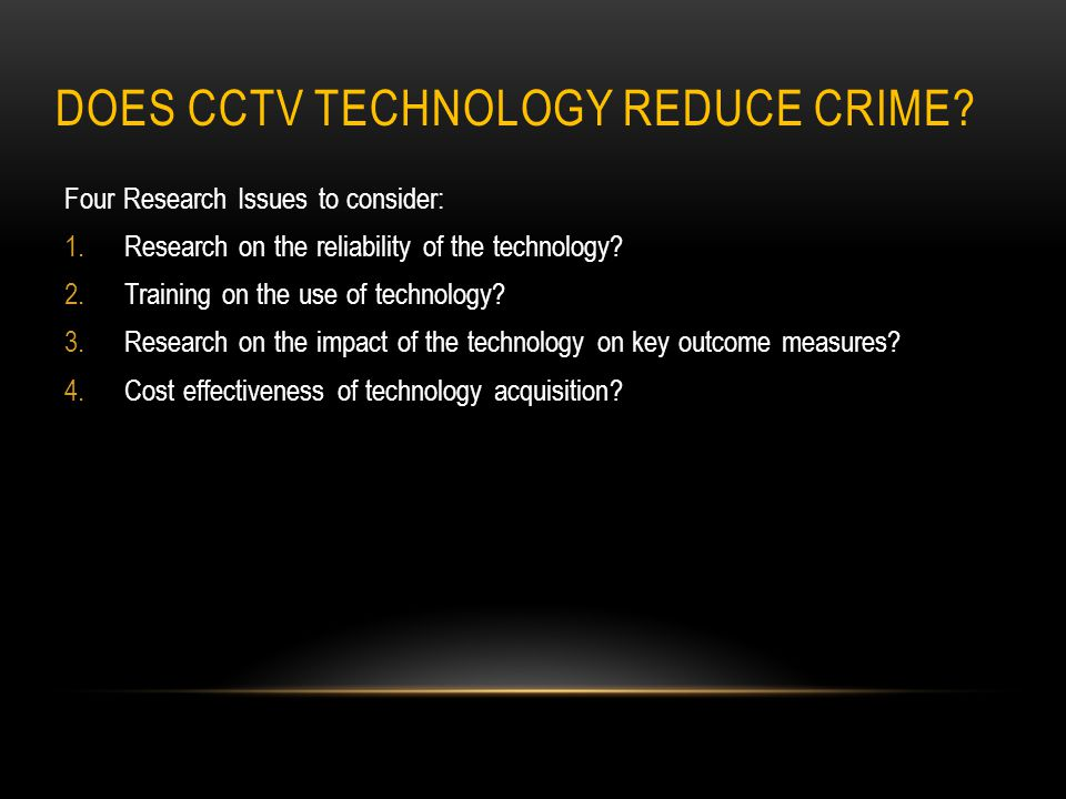 Does CCTV Technology reduce crime