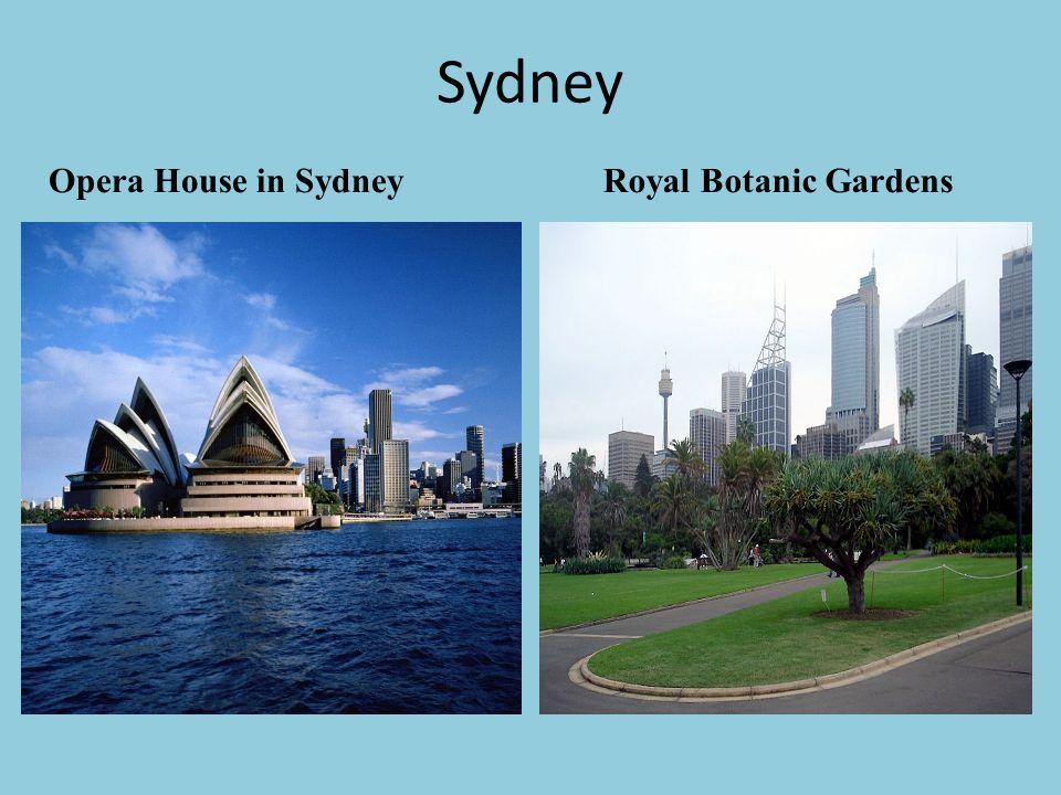 Sydney Royal Botanic Gardens Opera House in Sydney