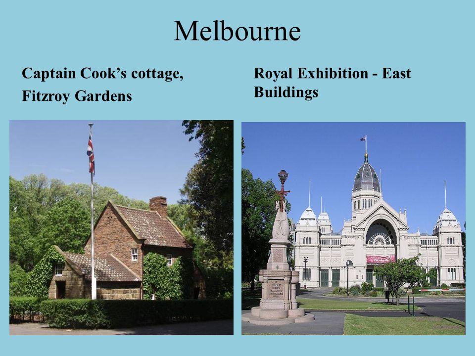 Melbourne Royal Exhibition - East Buildings Captain Cook's cottage,