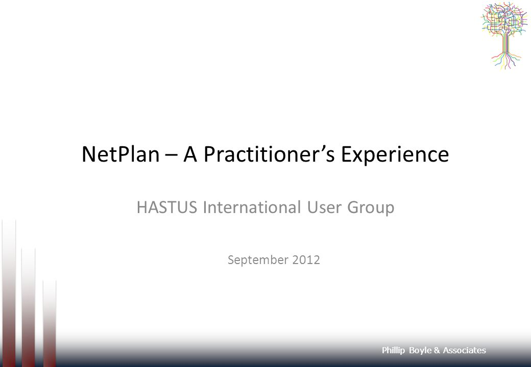 NetPlan – A Practitioner's Experience