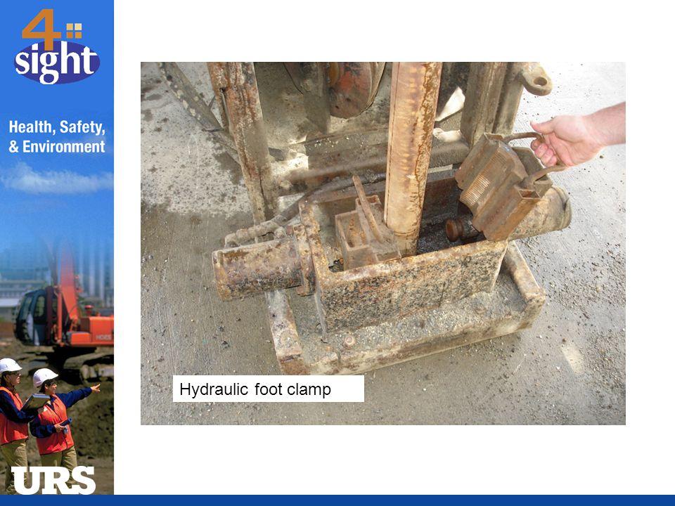 Hydraulic foot clamp