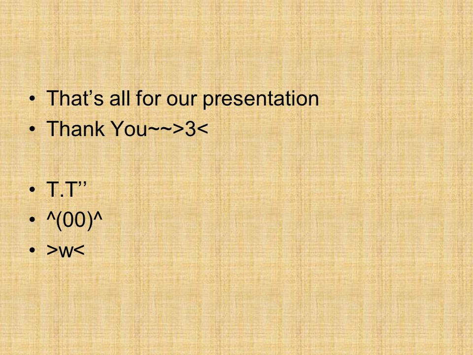 That's all for our presentation