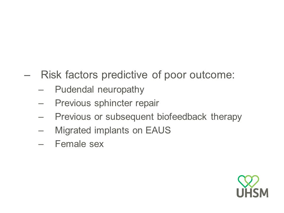 Risk factors predictive of poor outcome: