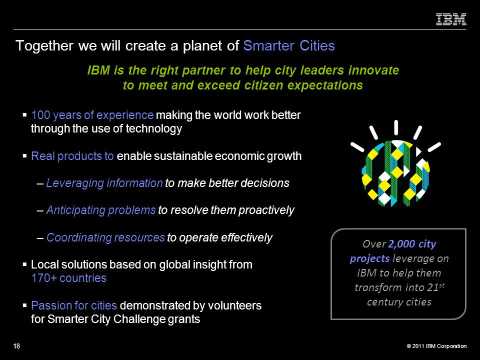 Together we will create a planet of Smarter Cities
