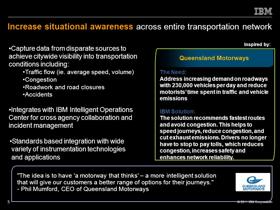Increase situational awareness across entire transportation network