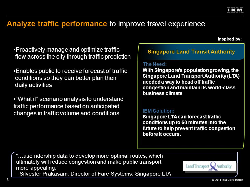 Analyze traffic performance to improve travel experience