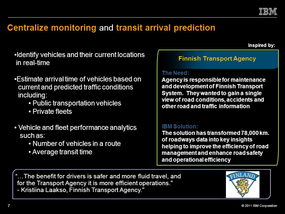 Centralize monitoring and transit arrival prediction