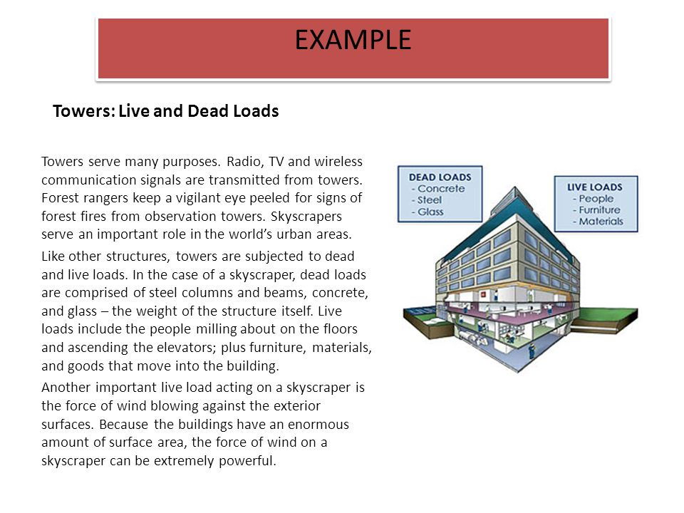 Towers: Live and Dead Loads