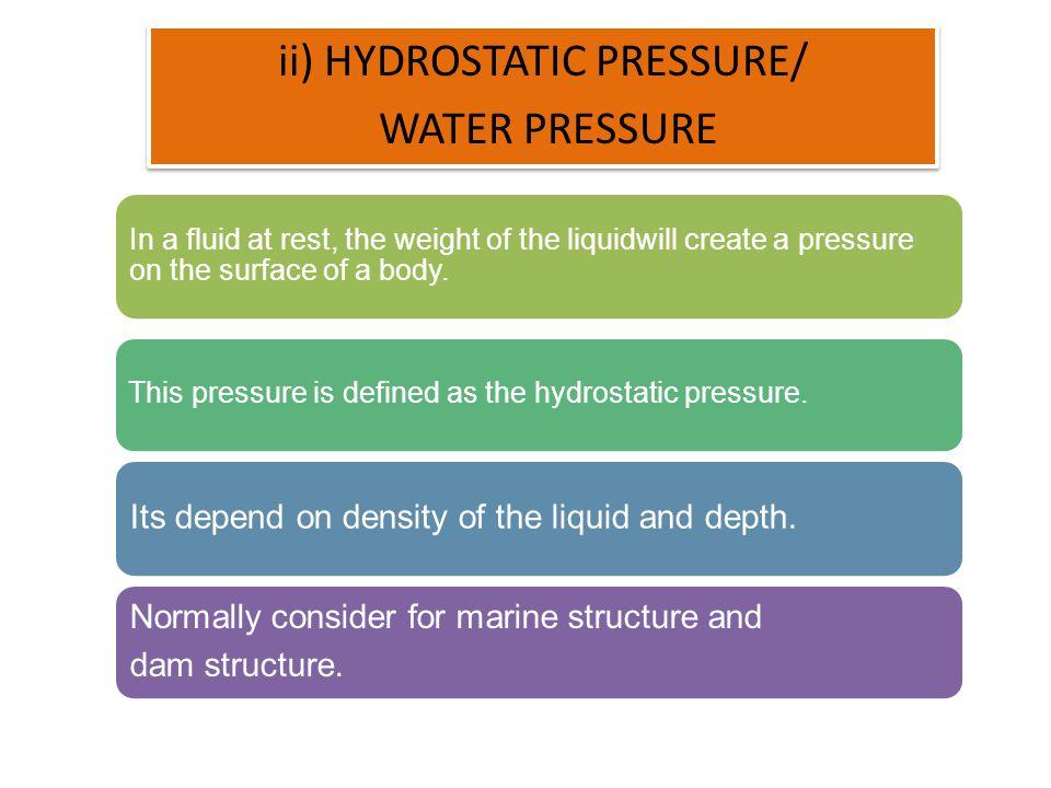 ii) HYDROSTATIC PRESSURE/