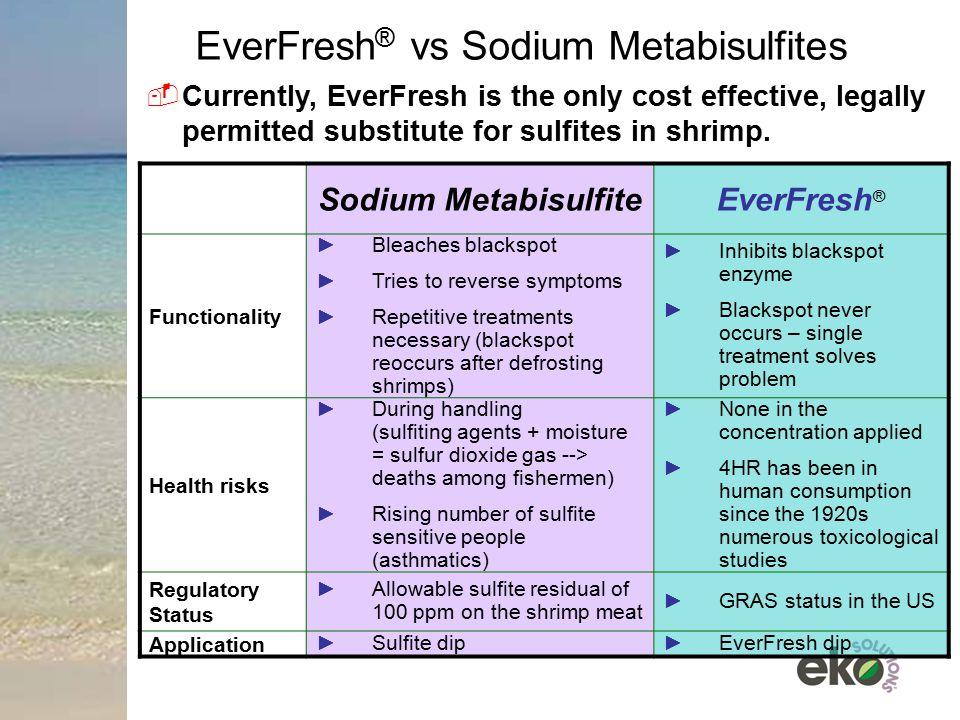 EverFresh® vs Sodium Metabisulfites