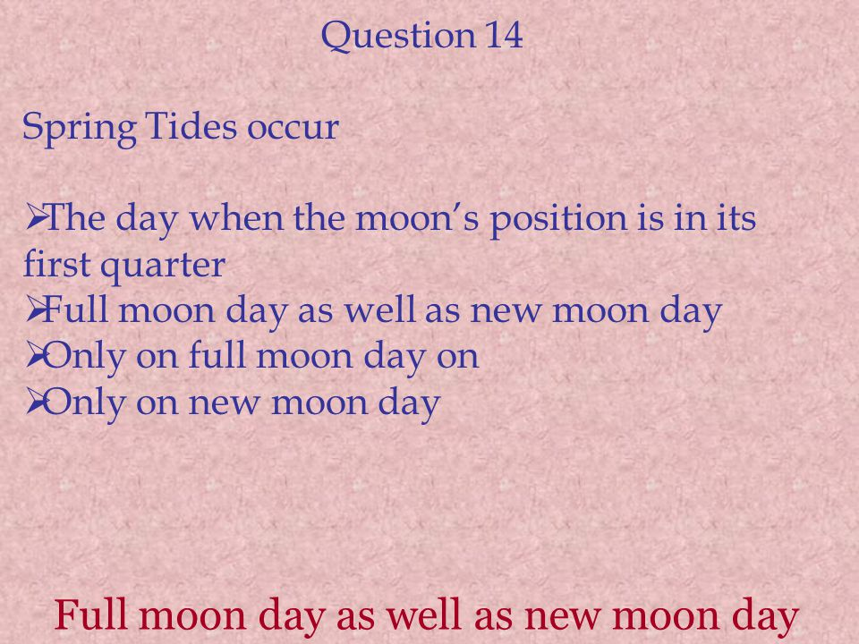 Full moon day as well as new moon day