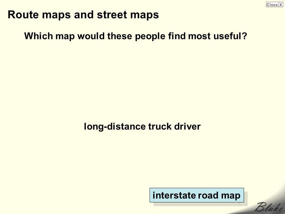 Route maps and street maps