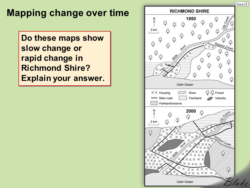 Mapping change over time