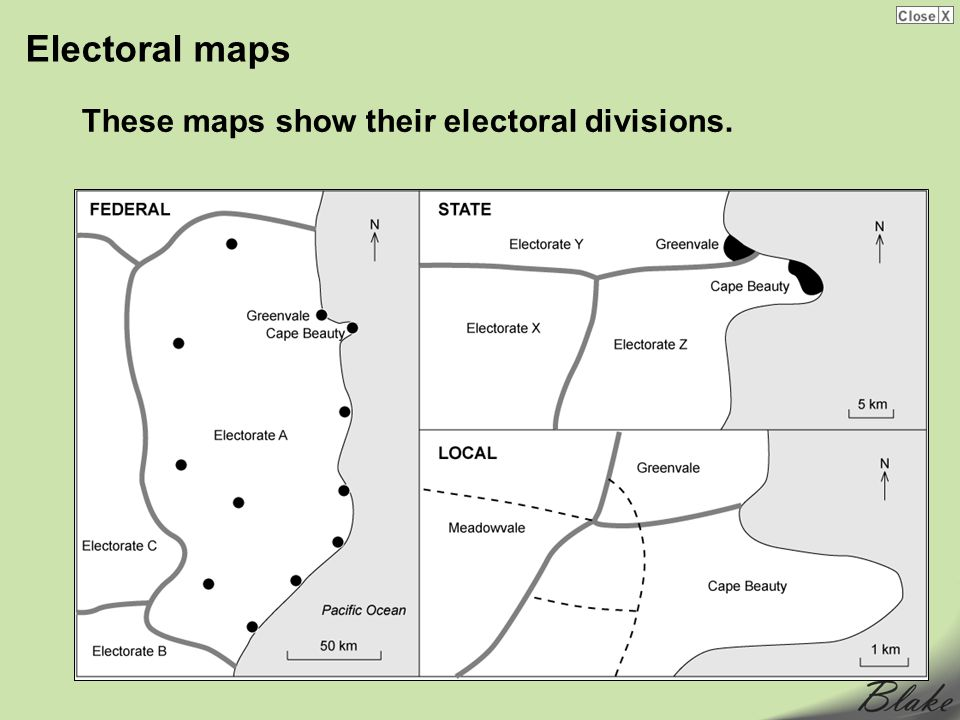 Electoral maps These maps show their electoral divisions.