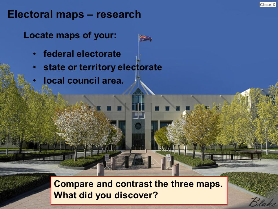 Electoral maps – research