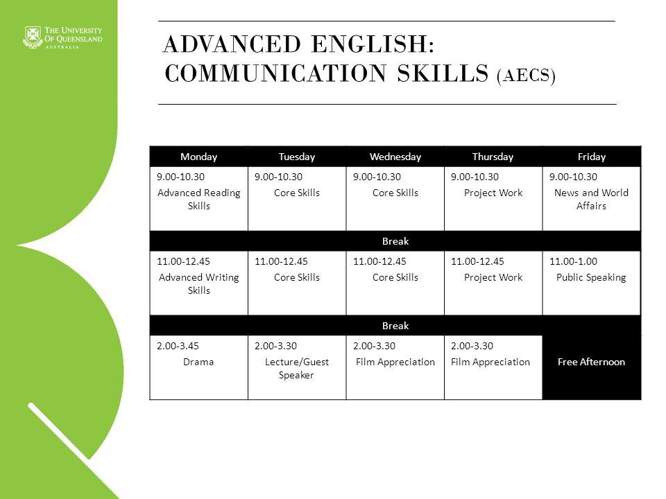 COMMUNICATION SKILLS (AECS)