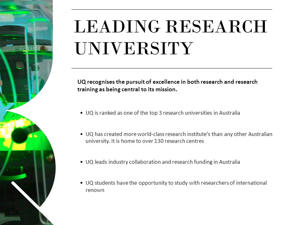 LEADING RESEARCH UNIVERSITY