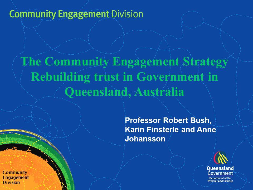 Michael Hogan Deputy Director-General Community Engagement Division