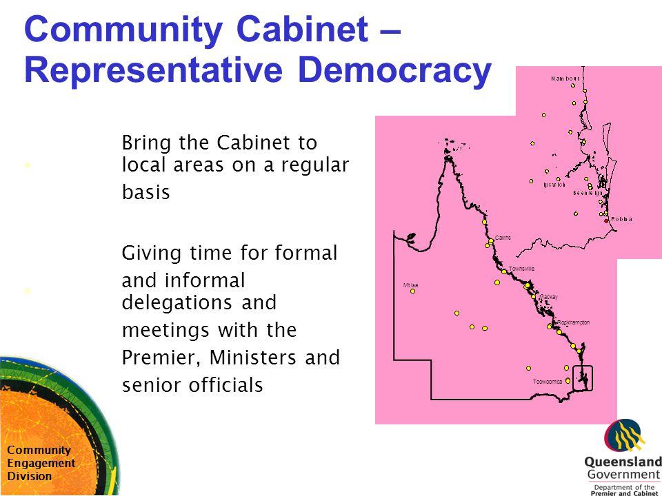 Community Cabinet – Representative Democracy