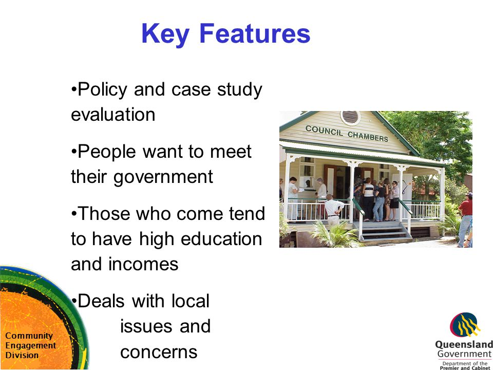 Key Features Policy and case study evaluation