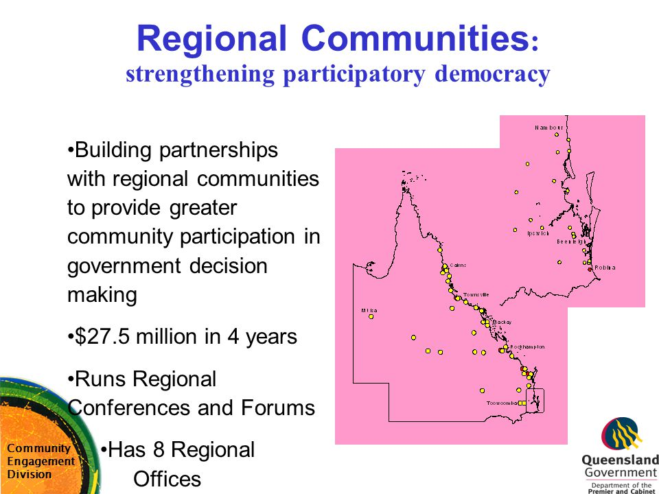 Regional Communities: strengthening participatory democracy
