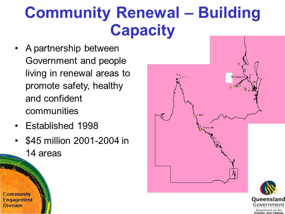 Community Renewal – Building Capacity