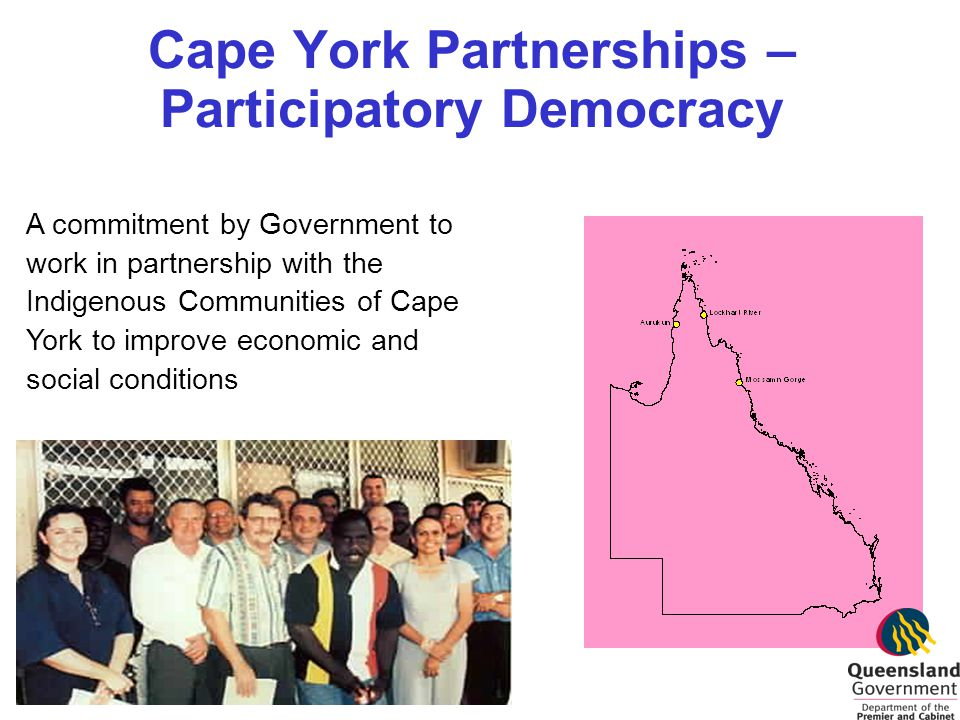 Cape York Partnerships – Participatory Democracy