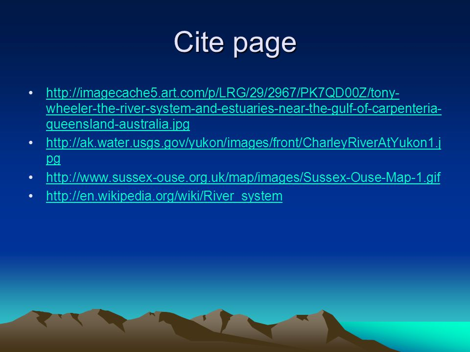 Cite page