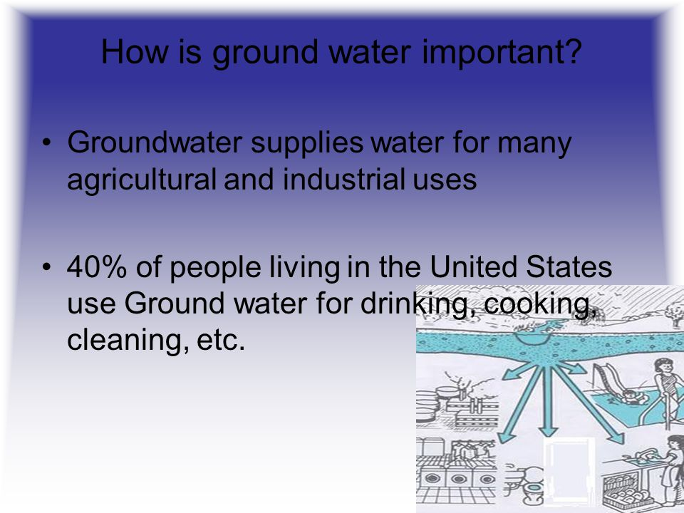 How is ground water important
