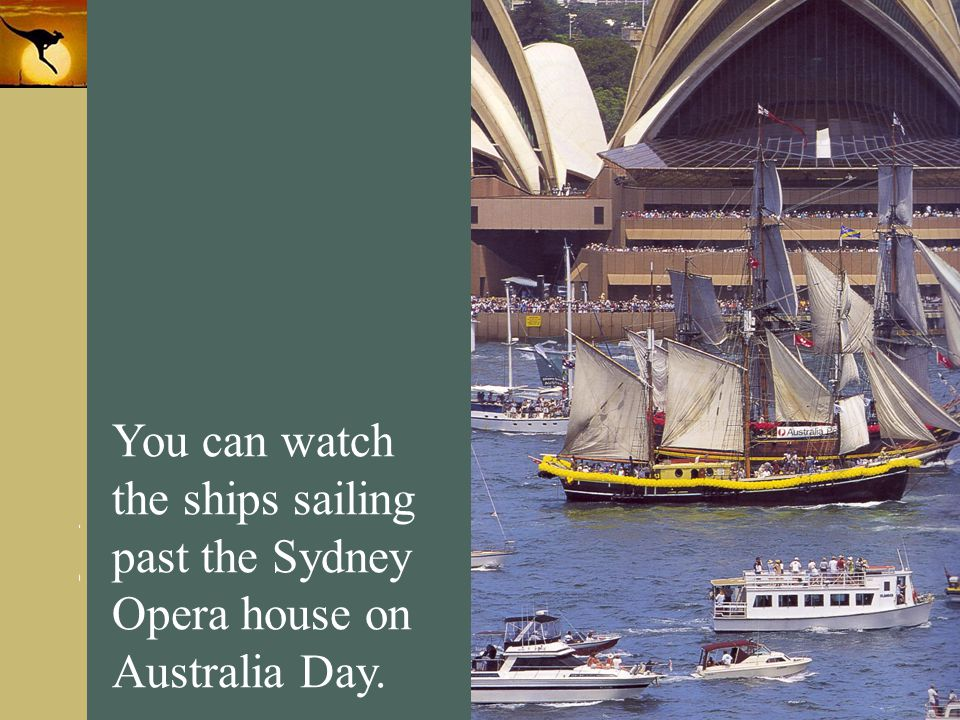 You can watch the ships sailing past the Sydney Opera house on Australia Day.