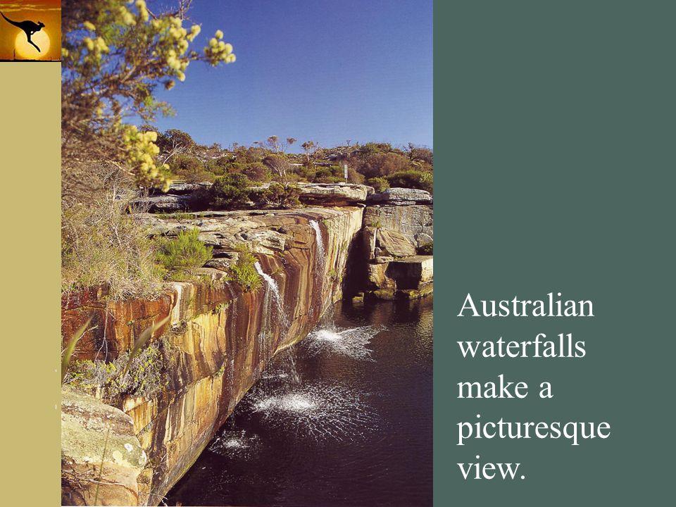 Australian waterfalls make a picturesque view.