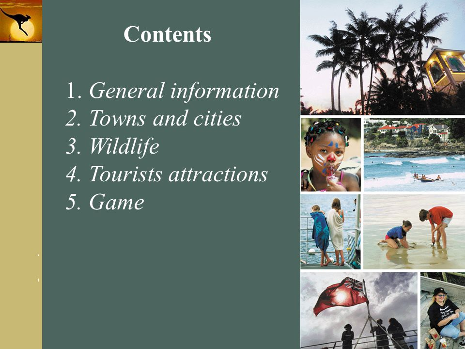 Contents General information Towns and cities Wildlife