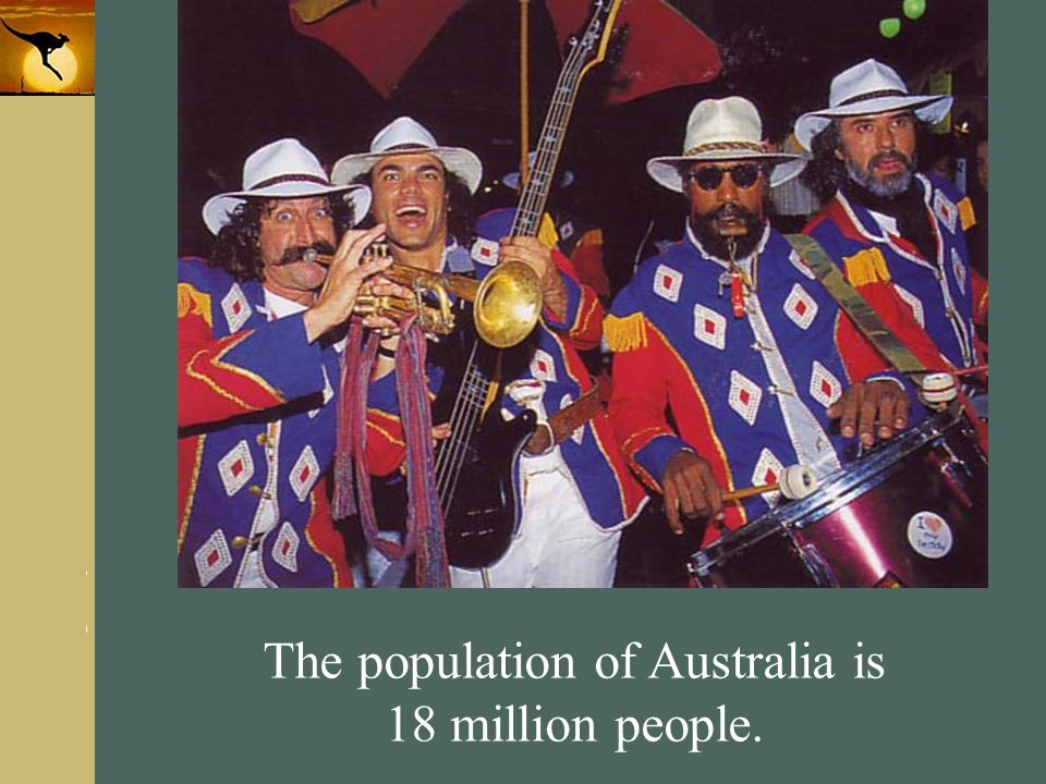 The population of Australia is