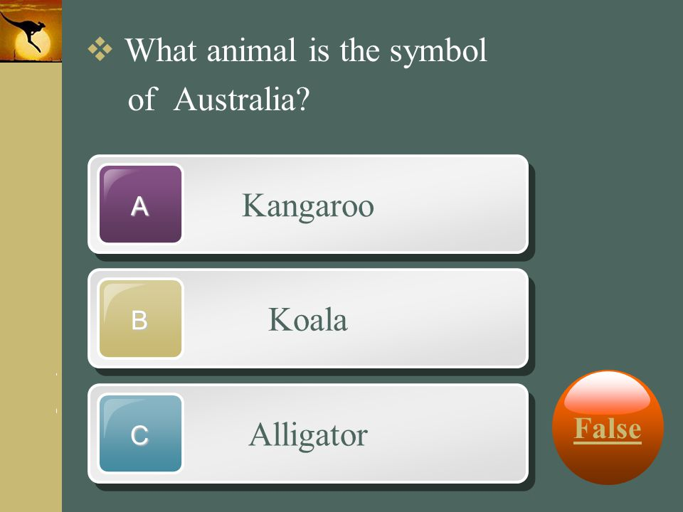 What animal is the symbol of Australia