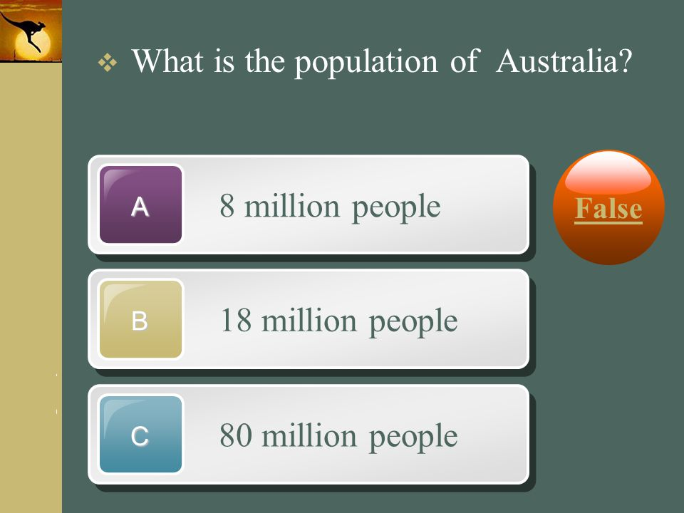 8 million people 18 million people 80 million people False
