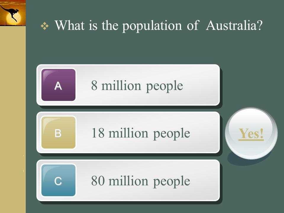 8 million people 18 million people Yes! 80 million people