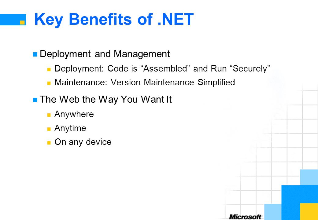 Key Benefits of .NET Deployment and Management