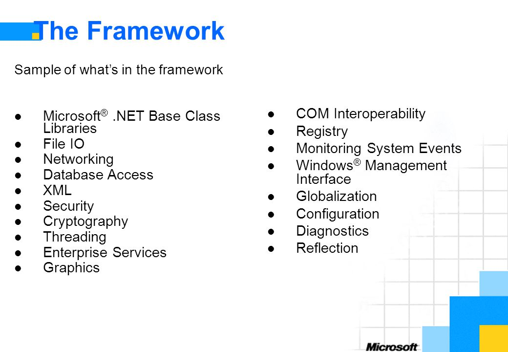 The Framework COM Interoperability