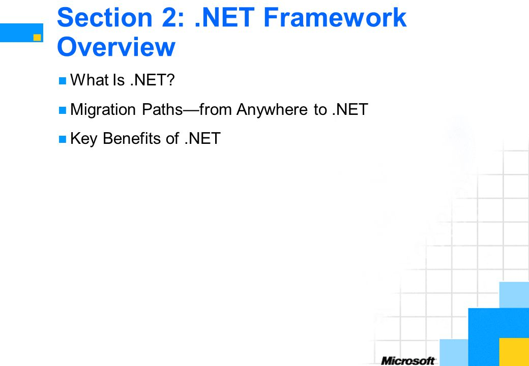 Section 2: .NET Framework Overview
