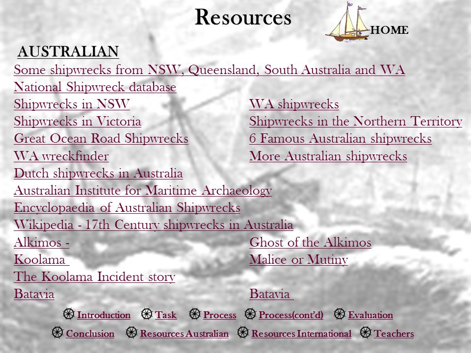 Resources Some shipwrecks from NSW, Queensland, South Australia and WA