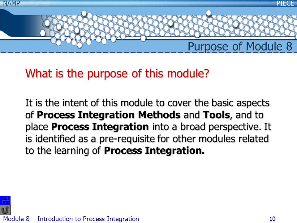 What is the purpose of this module